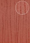 Edle Streifen Tapete Atlas COL-568-4 Vliestapete glatt Design schimmernd rot braun-rot 5, 33 m2
