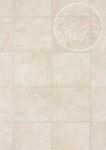 Präge Tapete Atlas SKI-5067-1 Vliestapete geprägt in Felloptik schimmernd creme perl-weiß hell-elfenbein 7, 035 m2