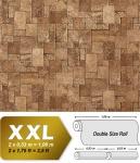 3D Stein Vliestapete EDEM 957-23 XXL stone cubes geprägte Mosaik-Stein Naturstein Optik lava braun 10, 65 qm
