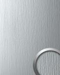 Wandpaneel Metall-Dekor matt Struktur WallFace 12447 DECO SILVER Wandverkleidung selbstklebend hell grau | 2, 60 qm