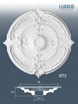 Zierrosette Stuck Orac Decor R73 LUXXUS Rosette Stuck Barock Dekor aus stoßfestem Polyurethan | 70 cm Durchmesser