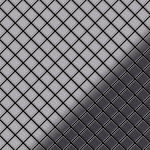 Mosaik Fliese massiv Metall Edelstahl hochglänzend in grau 1, 6mm stark ALLOY Diamond-S-S-M 0, 91 m2