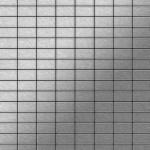 Mosaik Fliese massiv Metall Edelstahl gebürstet in grau 1, 6mm stark ALLOY Bauhaus-S-S-B 1, 05 m2