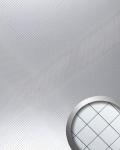 Wandpaneel Spiegel Mosaik selbstklebend spiegelnd WallFace 14280 M-Style RHOMBUS Wandverkleidung Design silber | 2, 60 qm