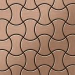 Mosaik Fliese massiv Metall Titan gebürstet in kupfer 1, 6mm stark ALLOY Infinit-Ti-AB Designed by Karim Rashid 0, 91 m2