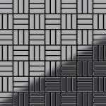 Mosaik Fliese massiv Metall Edelstahl marine hochglänzend in grau 1, 6mm stark ALLOY Basketweave-S-S-MM 0, 82 m2