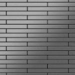 Mosaik Fliese massiv Metall Edelstahl marine gebürstet in grau 1, 6mm stark ALLOY Avenue-S-S-MB 0, 74 m2