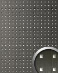 Wandpaneel Quadrat Dekor Design WallFace 12557 3D QUAD Wandplatte selbstklebend grau silber | 2, 60 qm