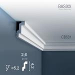 Eckleiste Stuck Orac Decor CB531 BASIXX Stuckleiste Zierleiste Stuckprofil Dekor kantig Wand Decken Leiste | 2 Meter