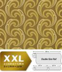 Grafik Tapete Vliestapete EDEM 915-38 XXL Designer Präge-Tapete geschwungene Linien abstraktes Muster olive gold bronze beige 10, 65 qm