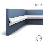 Wandleiste Zierleiste von Orac Decor PX120F AXXENT flexible Profilleiste Friesleiste Stuckprofil Wand Rahmen | 2 Meter