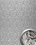 Wandpaneel Luxus 3D WallFace 14266 FLORAL Lederdekor Barock Blumen selbstklebend Tapete Verkleidung platin-grau | 2, 60 qm