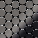 Mosaik Fliese massiv Metall Titan hochglänzend in dunkelgrau 1, 6mm stark ALLOY Medallion-Ti-SM 0, 73 m2