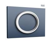 Zierrosette Stuck Orac Decor R66 LUXXUS Rosette Decken Ring Leiste aus stoßfestem Polyurethan weiß 54, 5 cm Durchmesser
