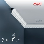 Stuckleiste Zierleiste Profilleiste Orac Decor CX149 AXXENT Kantenleiste Stuck Eckleiste Wand Decken Leiste 2 Meter