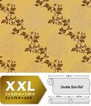Blumen Tapete Vliestapete EDEM 946-22 Luxus Blumentapete Blätter-Muster Barock-Blumendekor gelb grün-beige kupfer 10, 65 qm