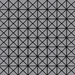 Mosaik Fliese massiv Metall Edelstahl matt in grau 1, 6mm stark ALLOY Deco-S-S-MA 0, 92 m2