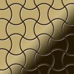 Mosaik Fliese massiv Metall Titan hochglänzend in gold 1, 6mm stark ALLOY Infinit-Ti-GM Designed by Karim Rashid 0, 91 m2