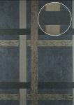 Streifen Tapete Atlas 24C-0605-5 Vliestapete glatt mit geometrischen Formen und metallischen Akzenten grau granit-grau anthrazit-grau bronze 7, 035 m2