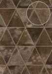 Präge Tapete Atlas SKI-5066-5 Vliestapete geprägt in Felloptik schimmernd braun sepia-braun terra-braun platin 7, 035 m2