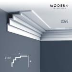 Eckleiste Orac Decor C393 MODERN STEPS Zierleiste Modernes Design weiß 2m