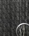 Wandpaneel Holz Optik WallFace 14806 WOOD Design Blickfang Dekor Platte selbstklebende Tapete schwarz silber | 2, 60 qm