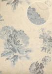 Blumen Tapete Atlas TEM-5109-5 Vliestapete strukturiert mit Paisley Muster schimmernd silber tauben-blau pastell-blau weiß 7, 035 m2