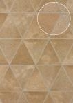 Präge Tapete Atlas SKI-6605-3 Vliestapete geprägt in Felloptik schimmernd beige braun-beige karamell-braun silber 7, 035 m2
