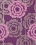Blumen Tapete EDEM 056-24 Blumentapete Floral Designer Retro 70er Style Violett pink flieder silber