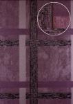 Streifen Tapete Atlas 24C-0605-2 Vliestapete glatt mit geometrischen Formen und metallischen Akzenten lila pastell-violett kupfer 7, 035 m2