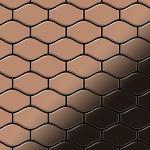 Mosaik Fliese massiv Metall Titan hochglänzend in kupfer 1, 6mm stark ALLOY Karma-Ti-AM Designed by Karim Rashid 0, 86 m2