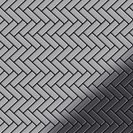 Mosaik Fliese massiv Metall Edelstahl marine hochglänzend in grau 1, 6mm stark ALLOY Herringbone-S-S-MM 0, 85 m2