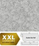 Spachtel Putz Tapete EDEM 9077-27 heißgeprägte Vliestapete geprägt im Shabby Chic Stil glänzend silber grau 10, 65 m2