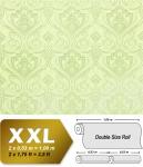 Barock Tapete XXL Vliestapete EDEM 993-38 Elegantes Damastmuster hochwertige Luxus Tapete hellgrün creme grau glitzer 10, 65 m2