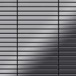 Mosaik Fliese massiv Metall Edelstahl hochglänzend in grau 1, 6mm stark ALLOY Linear-S-S-M 0, 94 m2