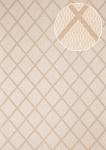 Grafik Tapete Atlas PRI-065-4 Vliestapete glatt mit Rauten Muster schimmernd oliv oliv-grau kiesel-grau perl-beige 7, 035 m2