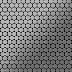 Mosaik Fliese massiv Metall Edelstahl marine gebürstet in grau 1, 6mm stark ALLOY Penny-S-S-MB 0, 88 m2