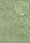 Grafik Tapete Atlas SIG-185-0 Vliestapete strukturiert mit abstraktem Muster schimmernd grün minz-grün licht-grün 5, 33 m2
