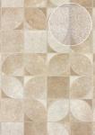 Präge Tapete Atlas SKI-5068-2 Vliestapete geprägt in Felloptik schimmernd beige perl-weiß creme-weiß 7, 035 m2