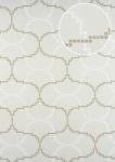 Grafik Tapete ATLAS HER-5132-1 Vliestapete geprägt mit geometrischen Formen schimmernd creme perl-weiß perl-beige 7, 035 m2
