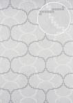 Grafik Tapete ATLAS HER-5132-2 Vliestapete geprägt mit geometrischen Formen schimmernd elfenbein perl-weiß perl-maus-grau 7, 035 m2