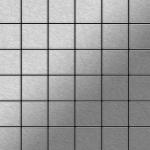 Mosaik Fliese massiv Metall Edelstahl gebürstet in grau 1, 6mm stark ALLOY Cinquanta-S-S-B 0, 94 m2