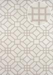 Grafik Tapete ATLAS HER-5134-3 Vliestapete geprägt mit geometrischen Formen schimmernd beige perl-hell-grau perl-gold 7, 035 m2