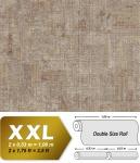 Spachtel Putz Tapete EDEM 9093-16 heißgeprägte Vliestapete geprägt im Shabby Chic Stil glänzend beige braun silber 10, 65 m2