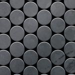 Mosaik Fliese massiv Metall Rohstahl gewalzt in grau 1, 6mm stark ALLOY Medallion-RS 0, 73 m2