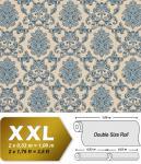 Barock Tapete EDEM 6001-90 Vliestapete geprägt mit Ornamenten glitzernd beige blau-grün grau 10, 65 m2