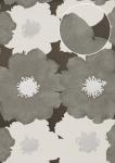 Blumen Tapete Atlas TEM-5108-6 Vliestapete geprägt im Retro-Stil und metallischen Akzenten grau silber anthrazit weiß 7, 035 m2
