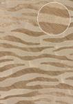 Tiermotiv Tapete Atlas SKI-5069-2 Vliestapete geprägt mit Zebramuster schimmernd beige grau-beige reh-braun blass-braun 7, 035 m2