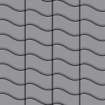 Mosaik Fliese massiv Metall Edelstahl matt in grau 1, 6mm stark ALLOY Flux-S-S-MA Designed by Karim Rashid 0, 86 m2