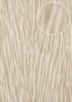 Tiermotiv Tapete Atlas STI-5103-2 Vliestapete geprägt in Felloptik schimmernd creme creme-weiß grau-beige 7, 035 m2